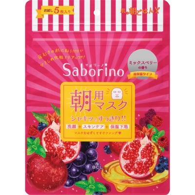 サボリーノ 目ざまシート 完熟果実の高保湿タイプ 5枚入り
