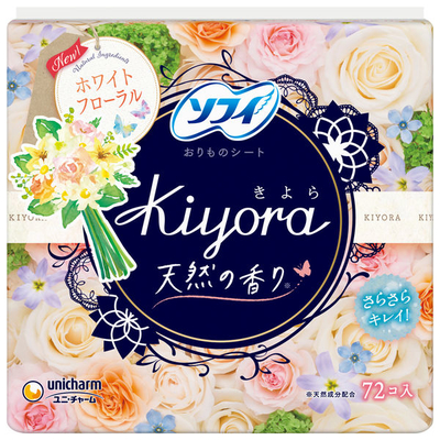 ソフィ Kiyora ホワイトフローラル 72枚