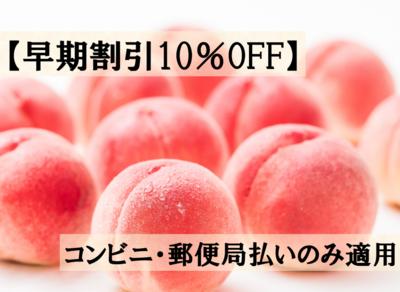 【早期割引10%OFF】桃(ご贈答用) 2kg