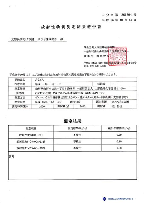 放射性物質測定結果報告03