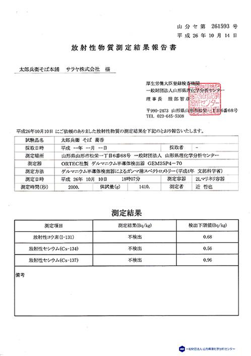 放射性物質測定結果報告02