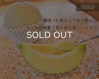 【予約商品】メロン(ゴールド)