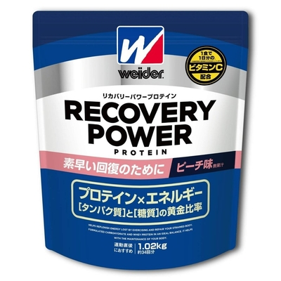 ウイダー リカバリーパワープロテイン ピーチ味 1.02kg 28MM12302 素早い回復 スポーツショップ限定