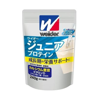 ウイダー ジュニアプロテイン ヨーグルトドリンク味 240g 36JMM81401 カルシウム豊富 成長期 栄養 大きな がっしり 体 肉体改造
