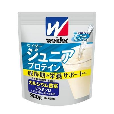 ウイダー ジュニアプロテイン ヨーグルトドリンク味 980g 36JMM81402 カルシウム豊富 成長期 栄養 大きな がっしり 体 肉体改造