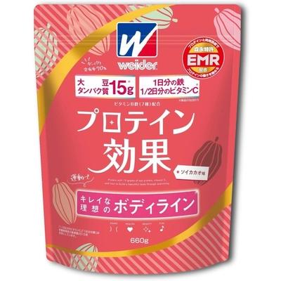 ウイダー プロテイン効果 ソイカカオ味 660g 36JMM01300 EMR Eルチン 大豆 鉄 ビタミンC B群 7種 キレイな理想のボディライン