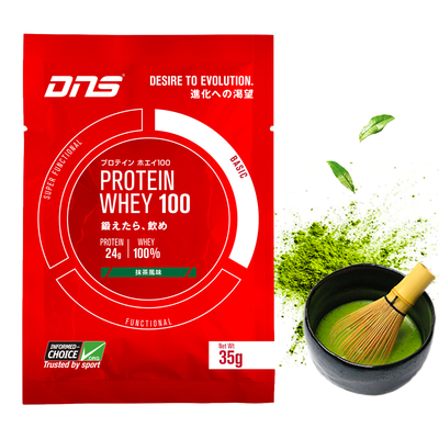 DNS プロテイン ホエイ100 シングルパック 1回分 抹茶風味 35g