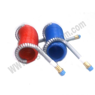 強化エアカールホース赤青セット