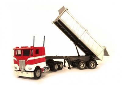 Peterbilt COE with End Dump Trailer