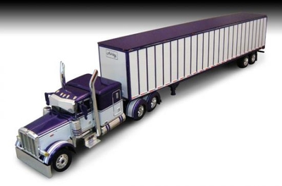 Ashley Trucking - Peterbilt 379 with 63 Flattop Trailer and Utility VS20C Dry Goods Trailer