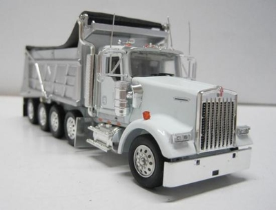Kenworth W900 Dump Truck in White with trailer hitch - Precision Series