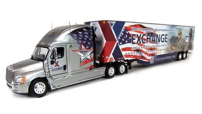AAFES-Freigtliner Cascadia with53'Dry Van Trailer