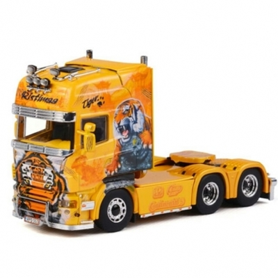 """Ristimaa """"Tiger"""" Show Truck  Scania R Topline Tractor in Yellow"""
