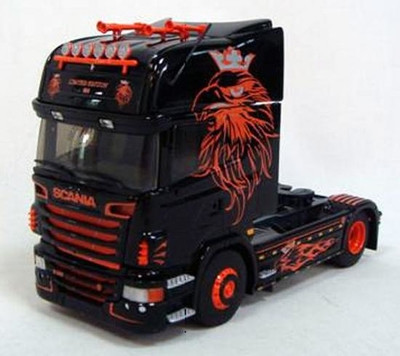Scania R Topline Tractor Cab Only in Black with Graphics - Limited Edition- JUST 2 LEFT