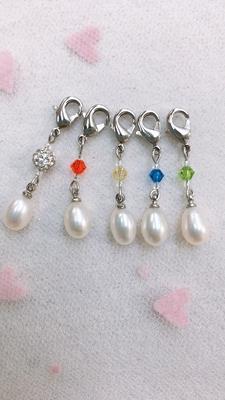 真珠マスクチャーム 【綺麗deセット】淡水真珠
