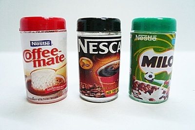 【激安・ミニチュア・ネコポス便】Nestle 3種類セット(ミニチュア雑貨、ミニチュアフード、ミニチュアスイーツ、コレクション)