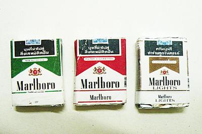 【激安・ミニチュア・ネコポス便】たばこ Marlboro3種類1セット(ミニチュア雑貨、ミニチュアフード、コレクション)