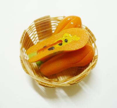 【激安・ミニチュア・ネコポス便】果物 カゴ 011(ミニチュア雑貨、ミニチュアフード、コレクション)