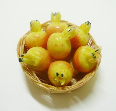 【激安・ミニチュア・ネコポス便】果物 カゴ 013(ミニチュア雑貨、ミニチュアフード、コレクション)