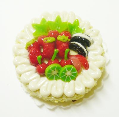 【激安・ミニチュア・ネコポス便】ラウンド型 ケーキ019(ミニチュア雑貨、ミニチュアフード、ミニチュアスイーツ、ホールケーキ)