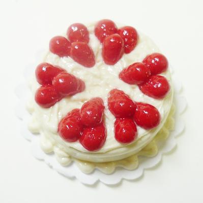 【激安・ミニチュア・ネコポス便】ラウンド型 ケーキ028(ミニチュア雑貨、ミニチュアフード、ミニチュアスイーツ、ホールケーキ)