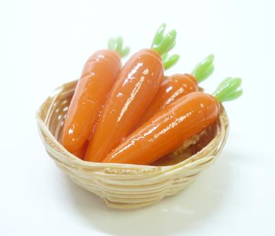 【激安・ミニチュア・ネコポス便】カゴに入った野菜009(ミニチュア雑貨、ミニチュアフード、コレクション)