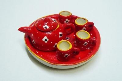 ポット&マグカップ 赤色