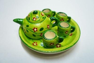 ポット&マグカップ 緑色