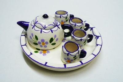 ポット&マグカップ 紫白系