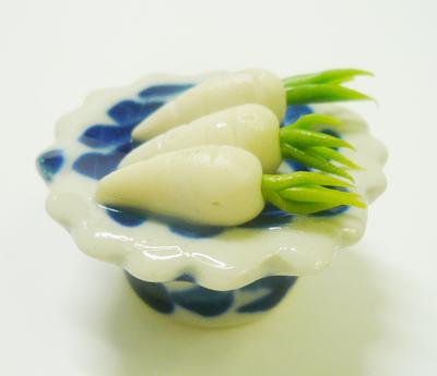 【激安・ミニチュア・ネコポス便】野菜 皿 004(ミニチュア雑貨、ミニチュアフード、コレクション)