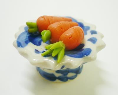 【激安・ミニチュア・ネコポス便】野菜 皿 006(ミニチュア雑貨、ミニチュアフード、コレクション)