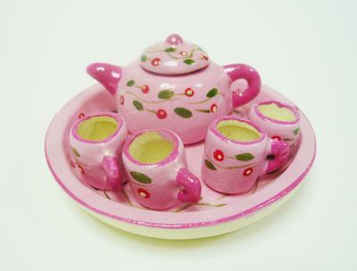 ポット&マグカップ ピンク 小花柄