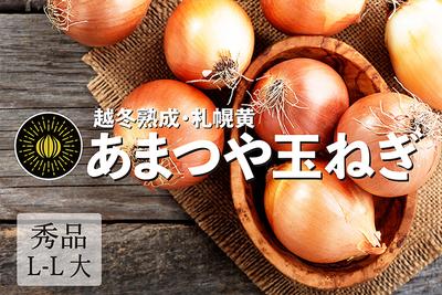 ※冬季限定 越冬熟成の甘みを強く味わって頂きたい【あまつや玉ねぎ】札幌黄(秀・L-L大・12kg)
