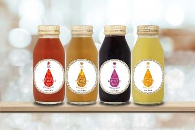 【最北のフルーツ王国からの美味しい詰め合わせ】果汁100%プレミアムジュース4本セット(トマト赤&黄・グレープ・アップル)