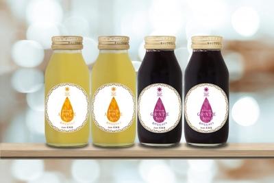 【最北のフルーツ王国からの美味しい詰め合わせ】果汁100%プレミアムジュース4本セット(アップル・グレープ 各2本)