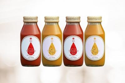 【最北のフルーツ王国からの美味しい詰め合わせ】果汁100%プレミアムジュース4本セット(トマト赤&黄 各2本)