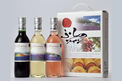ぶどう果樹研究所ふらのワイン3本セット(キャリーバック)360ml×3