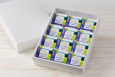 ★物産観光公社 ふらのぶどう果汁ゼリー12個入 (御歳暮専用のしシール付)