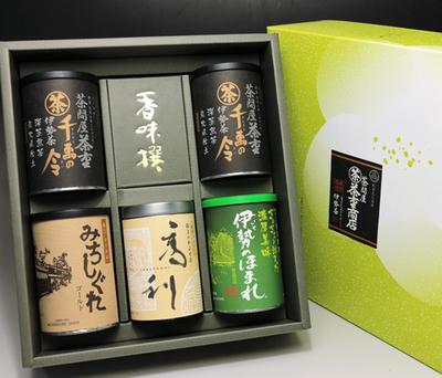 【三重県産茶葉】茶重銘茶セット(缶5本入り)