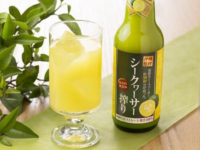琉津 沖縄県産シークヮーサー搾り100%ストレート果汁360ml