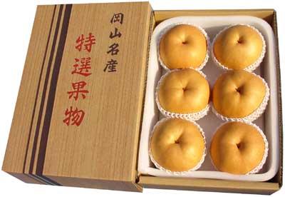 ご贈答用あたご梨(4.5kg箱 6玉)