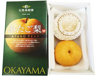 あたご梨2玉(1.2Kg×2玉)石原果樹園オリジナル化粧箱