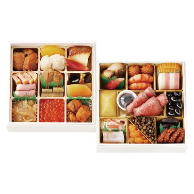 127〈日本料理 なだ万〉 冷凍おせち二段 正月万菜