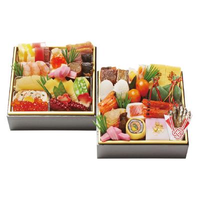 129〈京・料亭 わらびの里〉 料亭の冷凍おせち二段重
