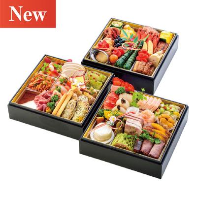 01〈郡山八山田 エルマール〉美食の宝石箱(フレンチ・イタリアン・和 三段重)