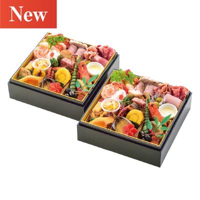 02〈郡山八山田 エルマール〉美食の宝石小箱(フレンチ・イタリアン・和 個食二段)