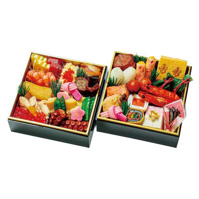 99-〈京・料亭 わらびの里〉料亭の冷凍おせち二段重
