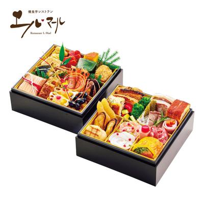 02-〈郡山八山田 エルマール〉美食の宝石小箱(和洋二段重)