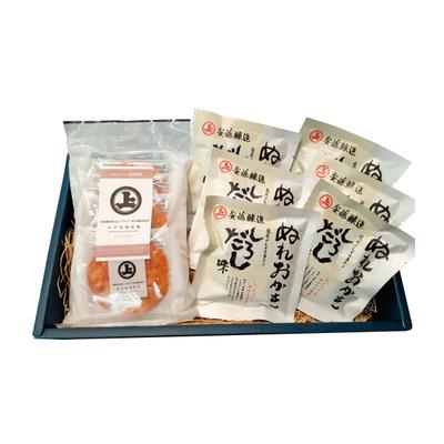 【秋田】安藤醸造 ぬれおかき・ねぎ味噌煎餅セット