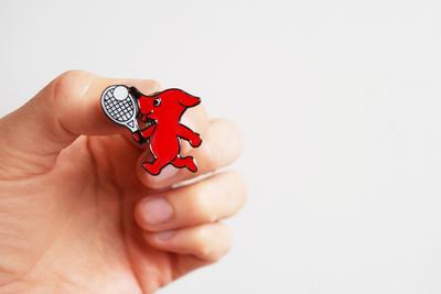 チーバくん ピンバッヂ <軟式テニス>
